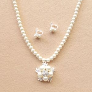 Bridal wedding necklace and earring set, (jnn209)
